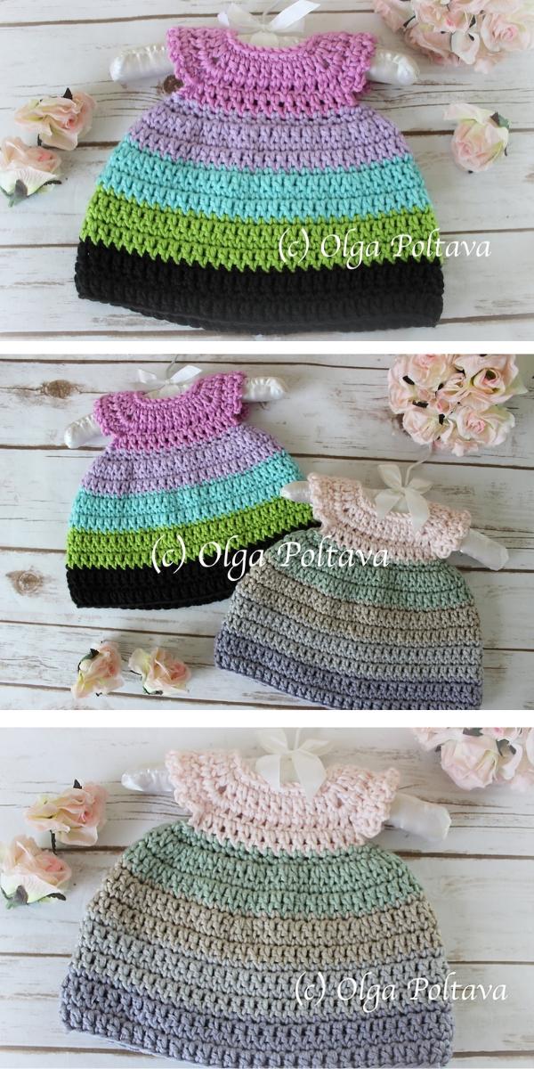 Caron x Pantone Newborn Dress Free Crochet Pattern