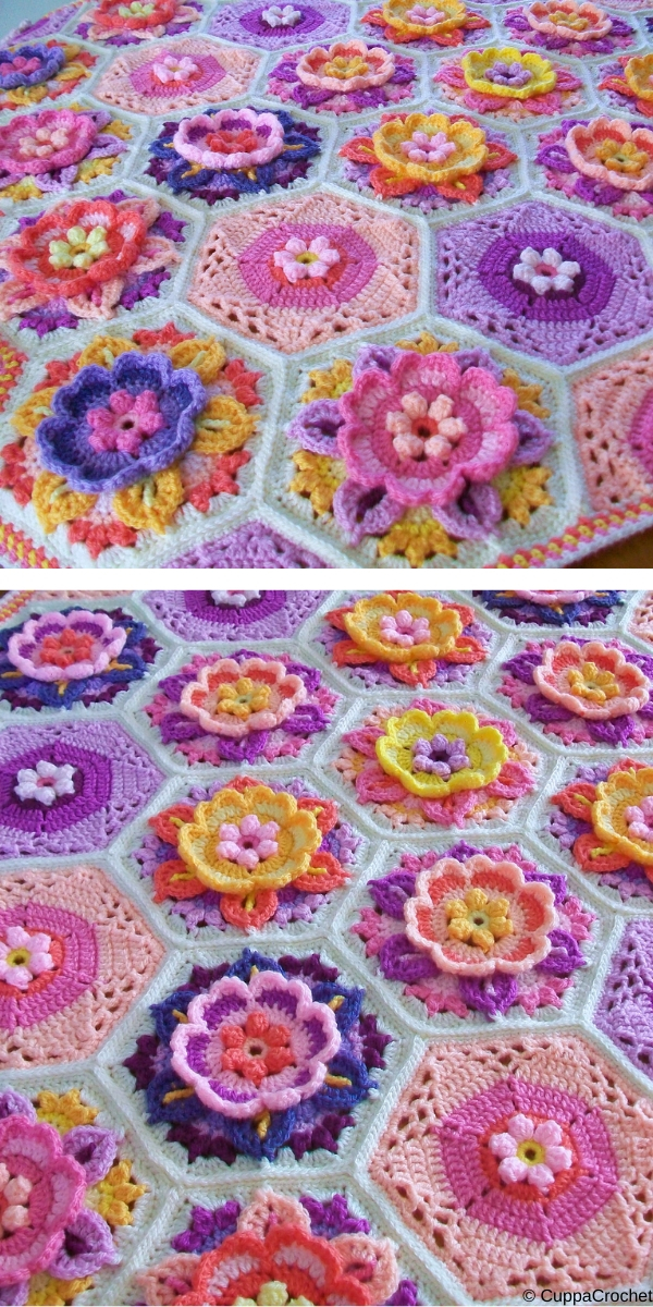 Frida's Flowers Blanket Free Crochet Pattern