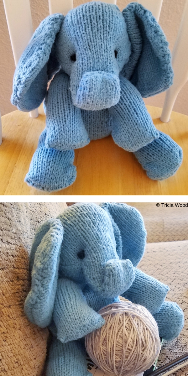 Bodil the Elephant Free Knitting Pattern
