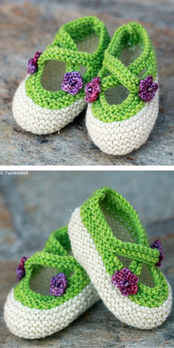 Saartje's Bootees Free Knitting Pattern