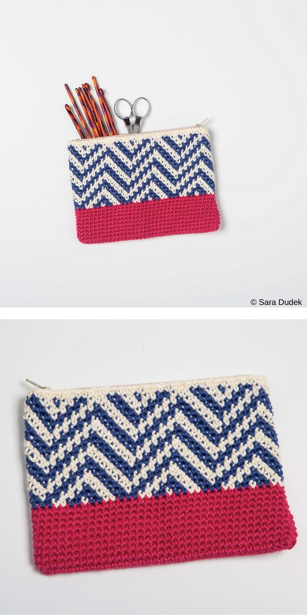 Tapestry Zipper Pouch Free Crochet Pattern
