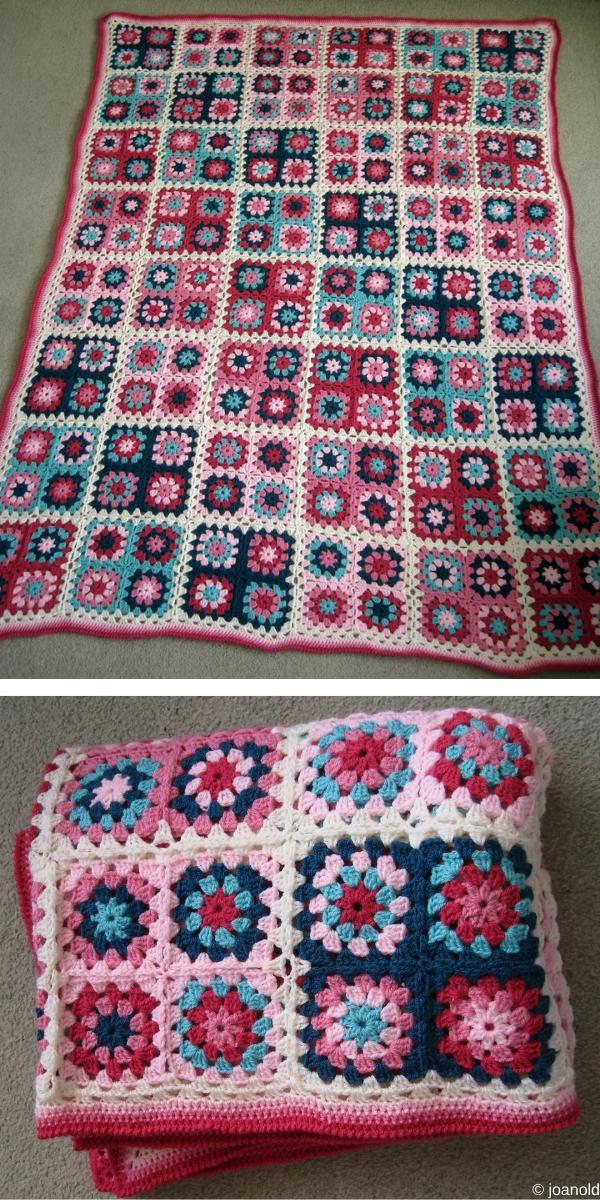 Summer Garden Granny Square Blanket Ideas Free Crochet Pattern