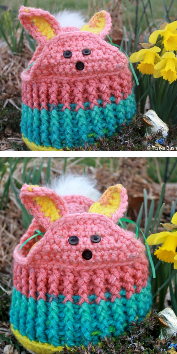 Some Bunny Loves You Easter Basket Free Crochet Pattern