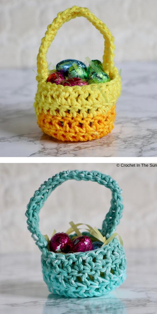 20 Minute Easter Basket Free Crochet Pattern
