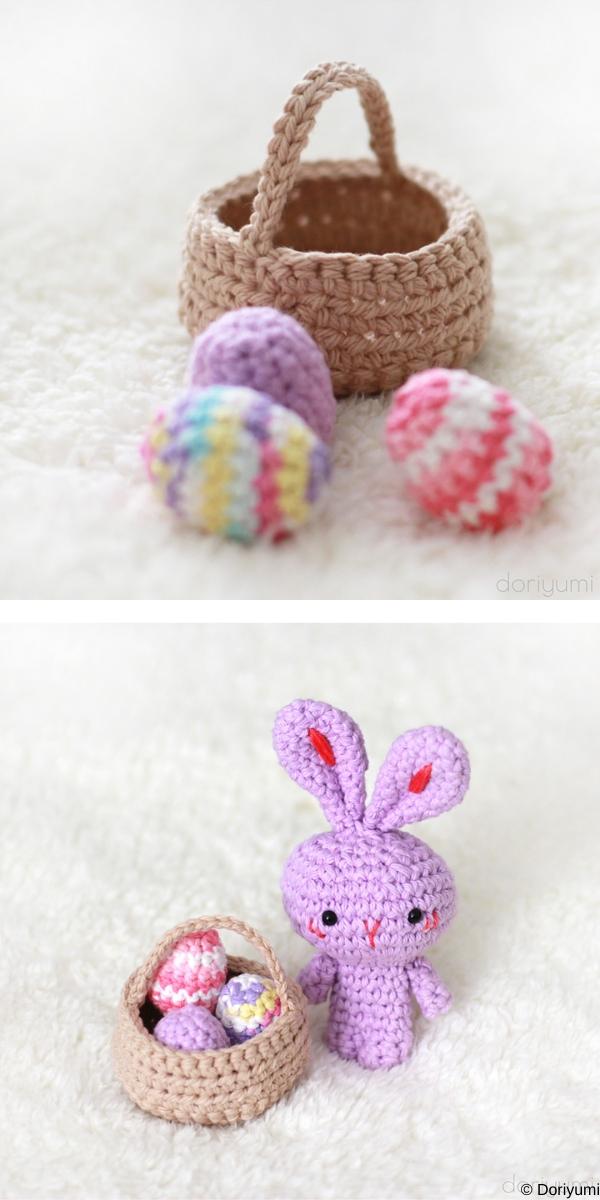 Little Basket Of Eggs Free Crochet Pattern