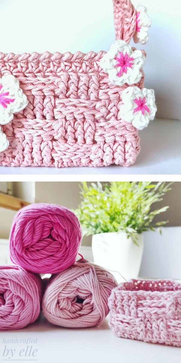 Easter Flowers Mini Egg Basket Free Crochet Pattern