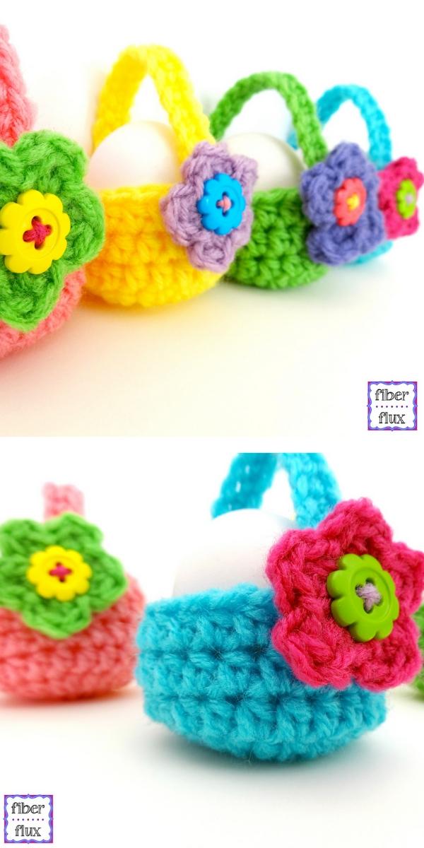 Little Egg Baskets Free Crochet Pattern