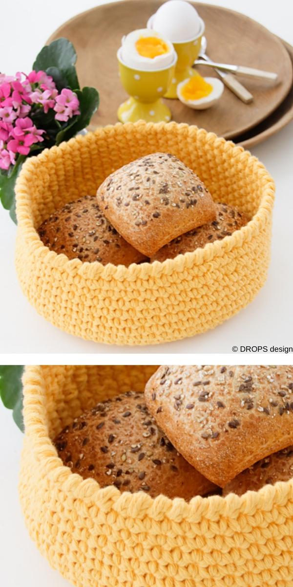 Sunny Basket Free Crochet Pattern