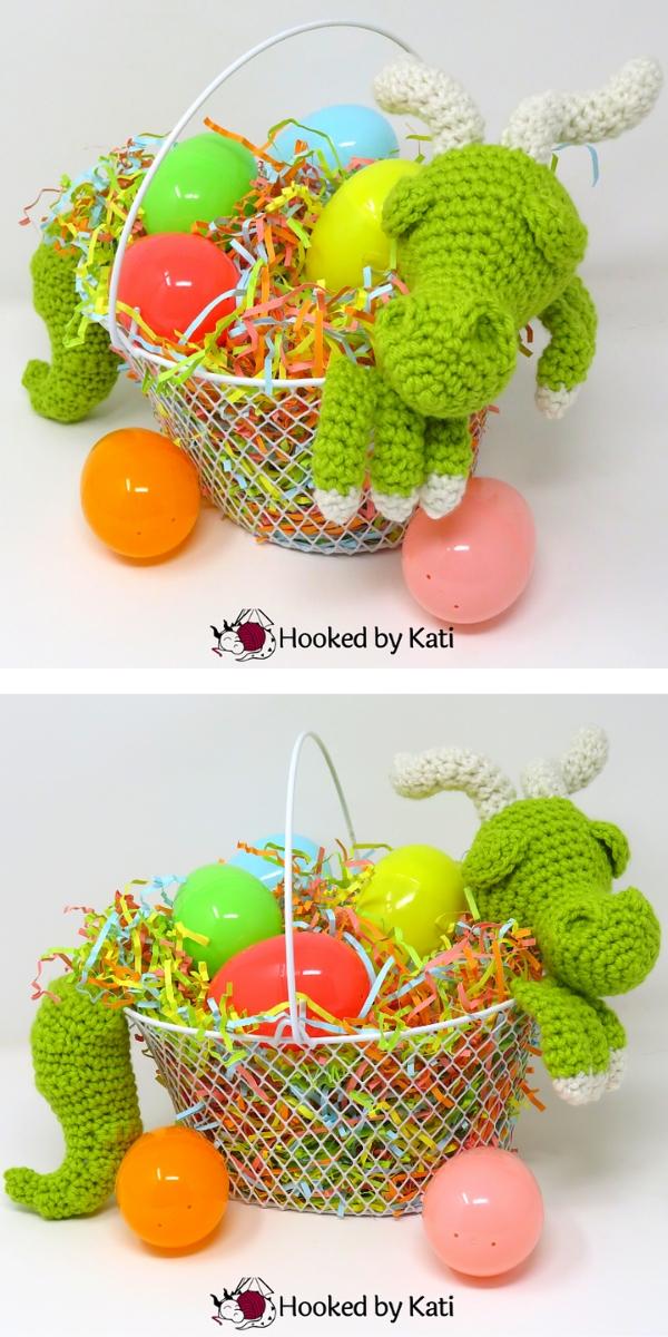 Easter Basket Dragon Free Crochet Pattern