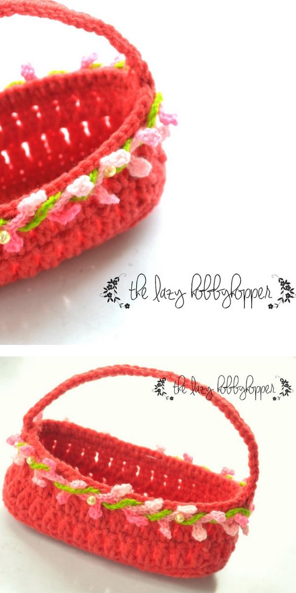 Mini Easter Basket Free Crochet Pattern