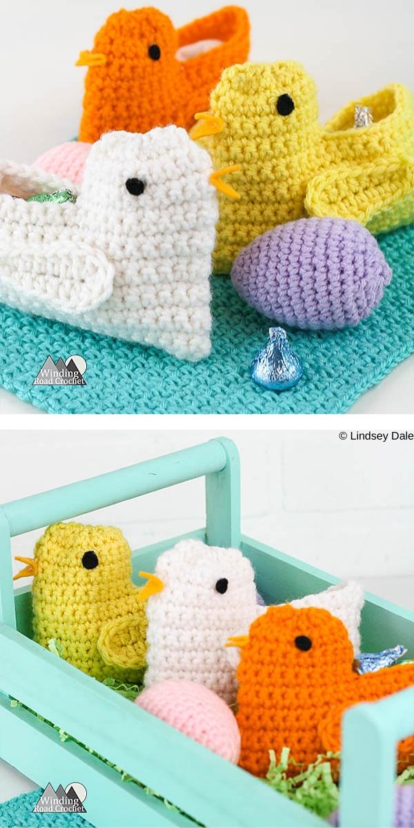 Spring Chick Basket Free Crochet Pattern