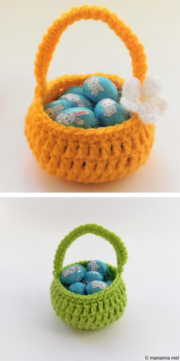 Sweet Little Easter Baskets Free Crochet Pattern