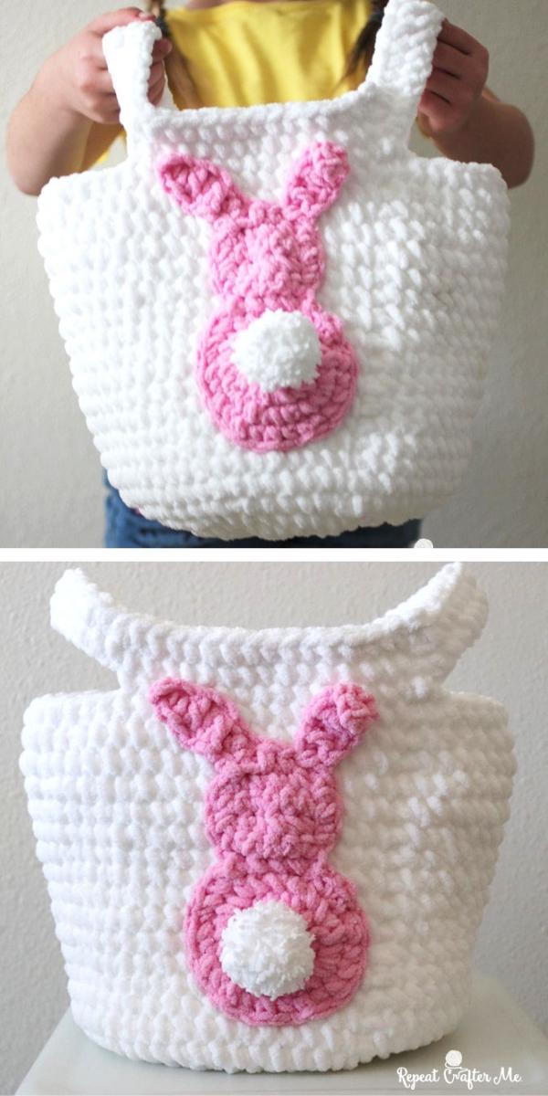 Easy Easter Crochet Basket Free Crochet Pattern