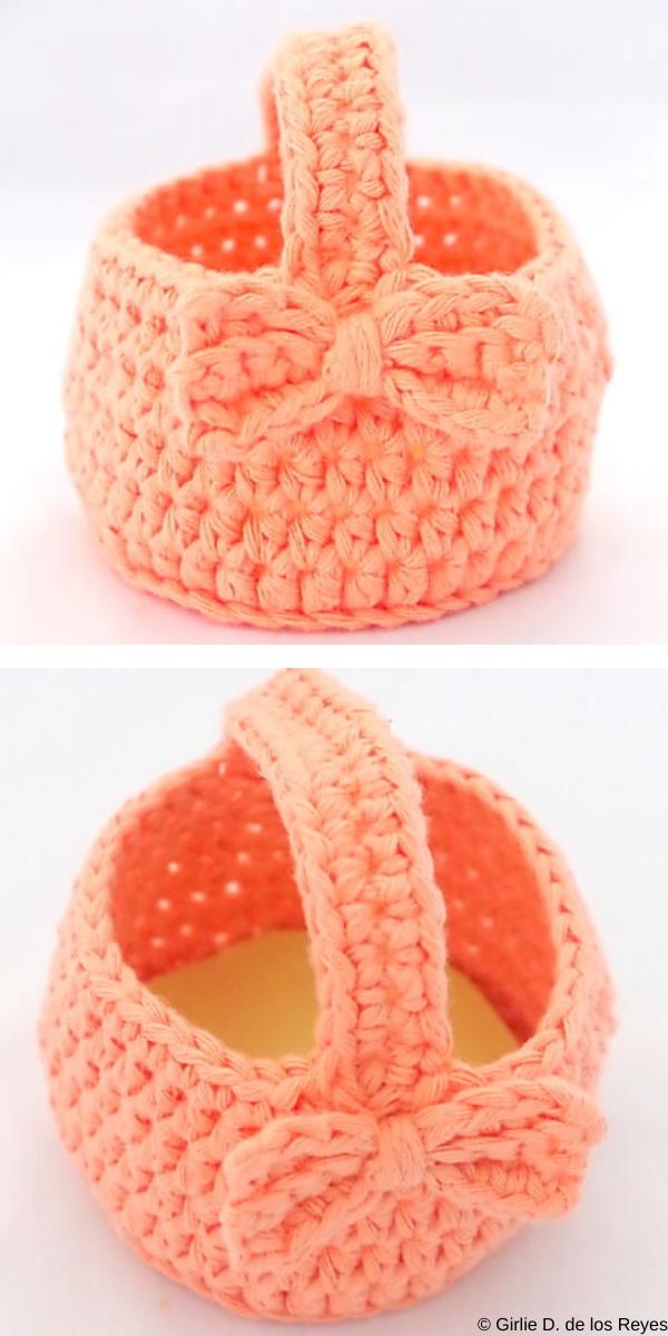 Mini Easter Egg Basket Free Crochet Pattern