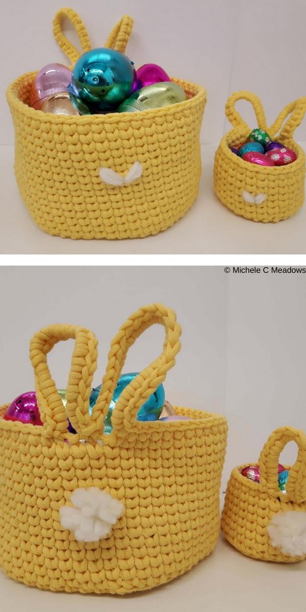 Big Bunny Little Bunny Baskets Free Crochet Pattern