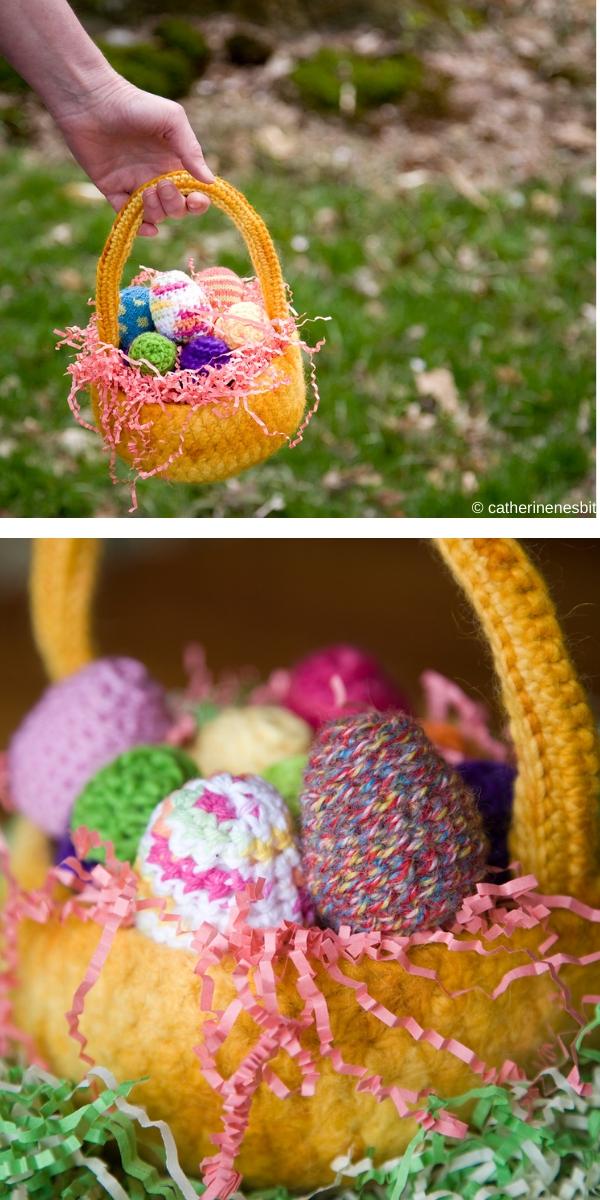 Fast & Easy Crochet Gift Basket Free Crochet Pattern