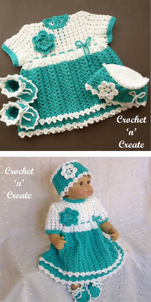 Baby Girls Outfit Free Crochet Pattern