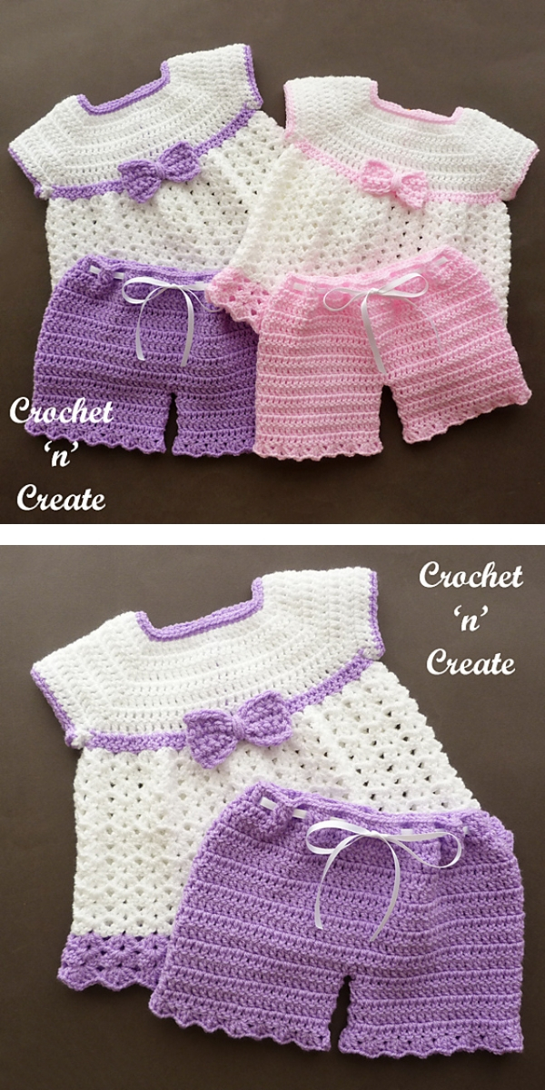 Angel Dress and Pants Free Crochet Pattern