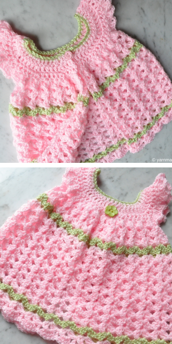 Angel Wings Pinafore Free Crochet Pattern