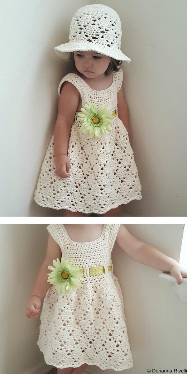 Vintage Toddler Dress Free Crochet Pattern