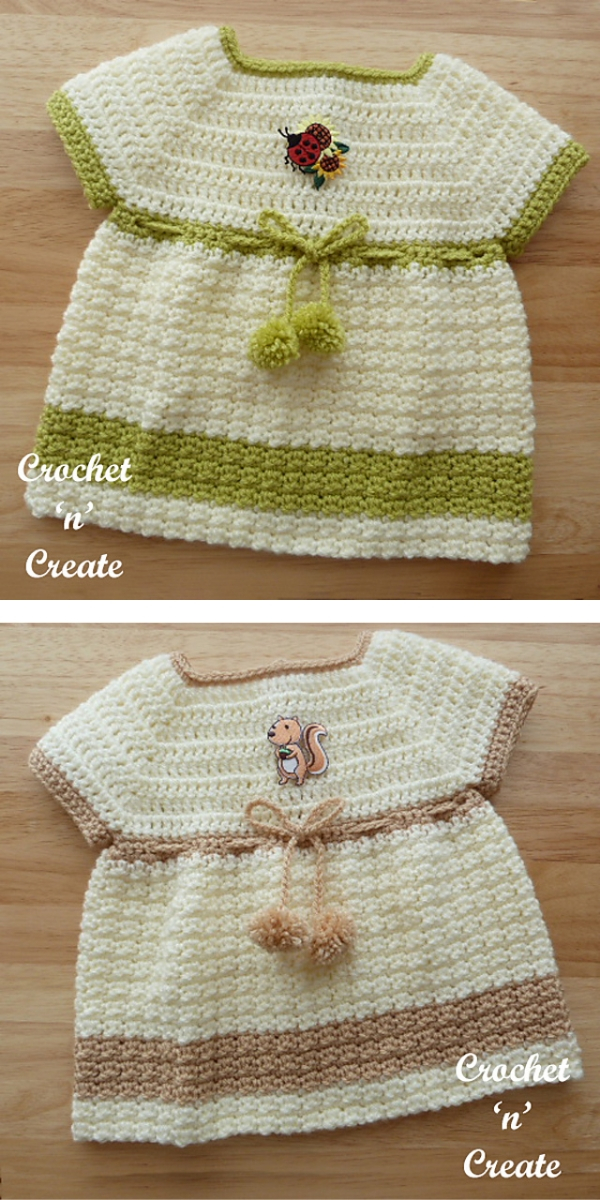 Woodland Baby Dress Free Crocet Pattern