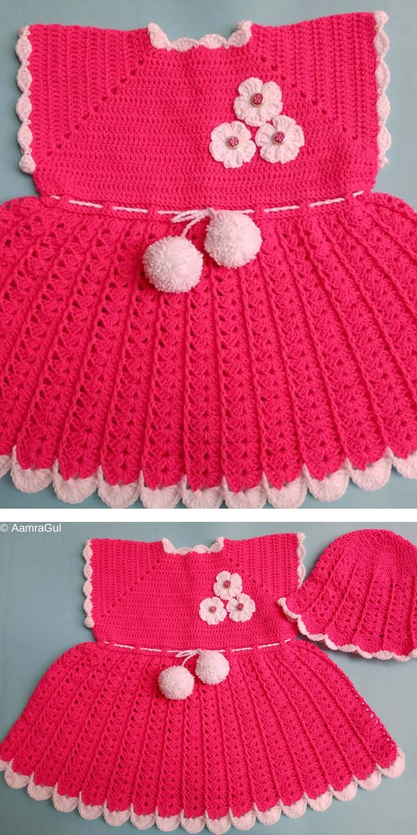 Crocheted Baby Dress Free Crochet Pattern