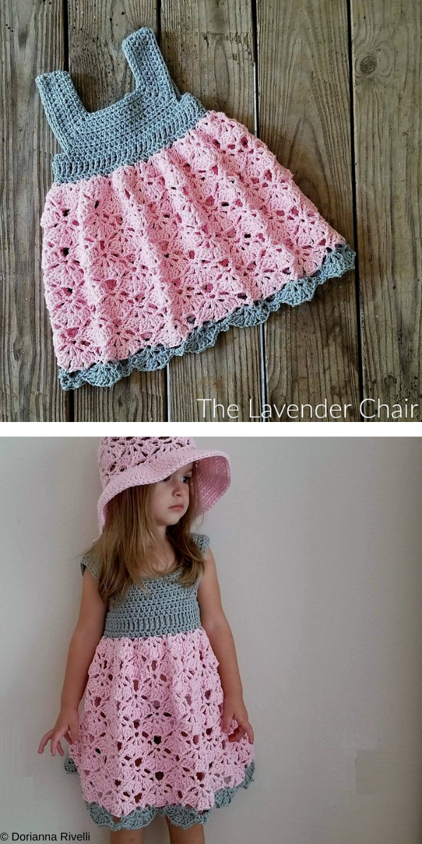 Falling Fans Dress Free Crochet Pattern
