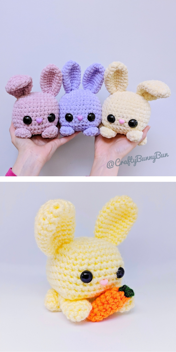 Cube Bunny Rabbit Free Crochet Pattern