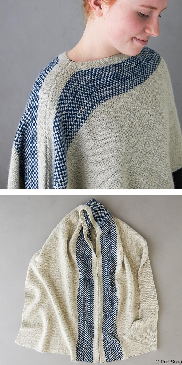 Seamed Wrap Free Knitting Pattern