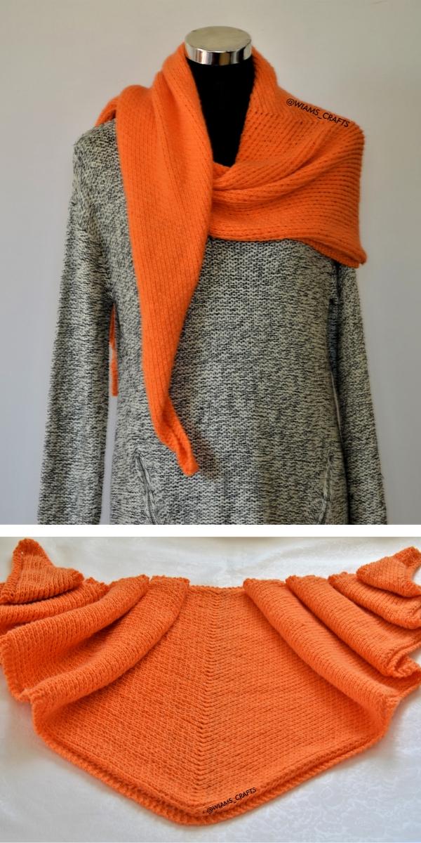 Follow My Lines Shawl Free Knitting Pattern