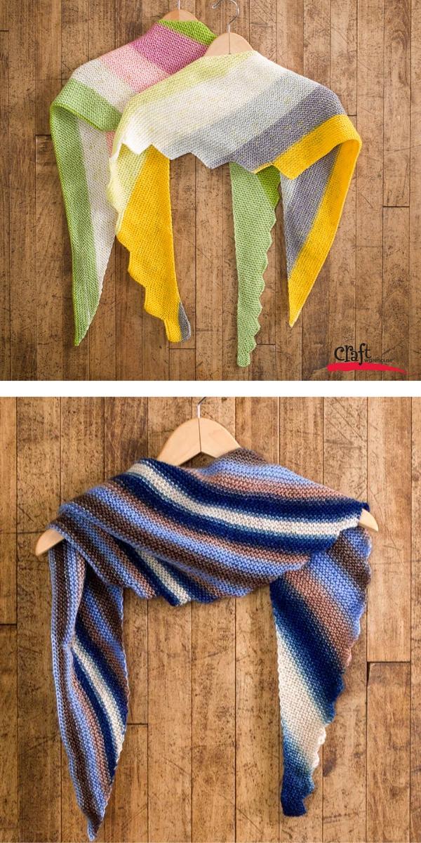 Triangle Scarf Shawl Free Knitting Pattern