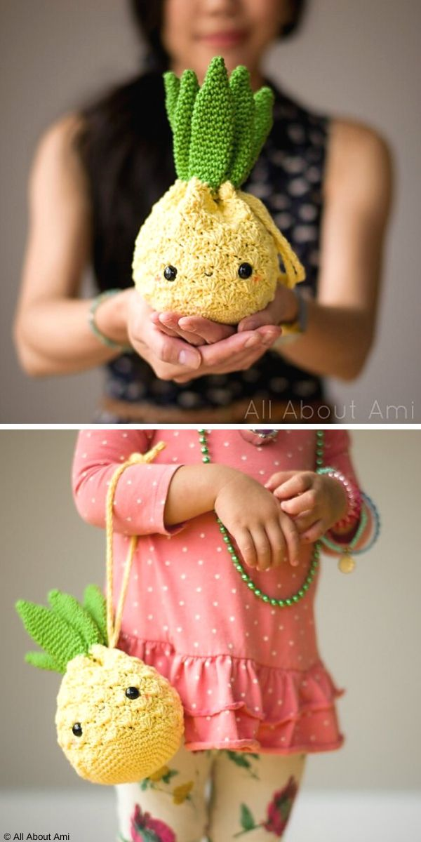 Amigurumi Pineapple Purse Free Crochet Pattern