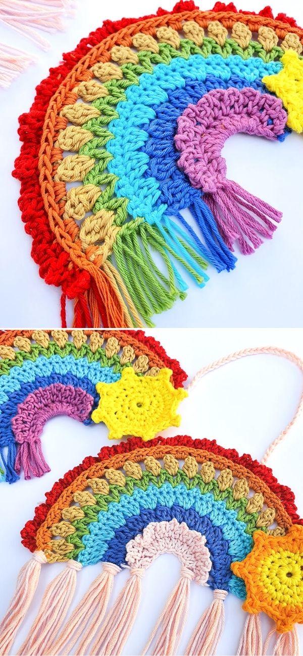 Boho Crochet Rainbow