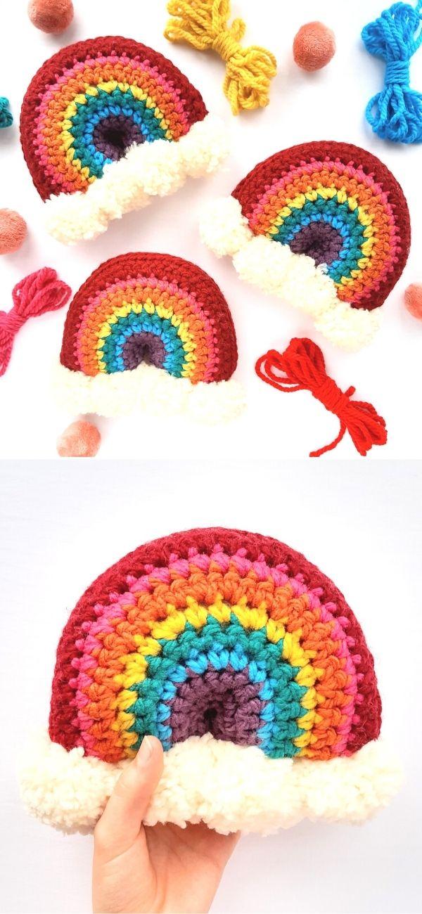 Brighten Your Day Crochet Rainbow Stuffie