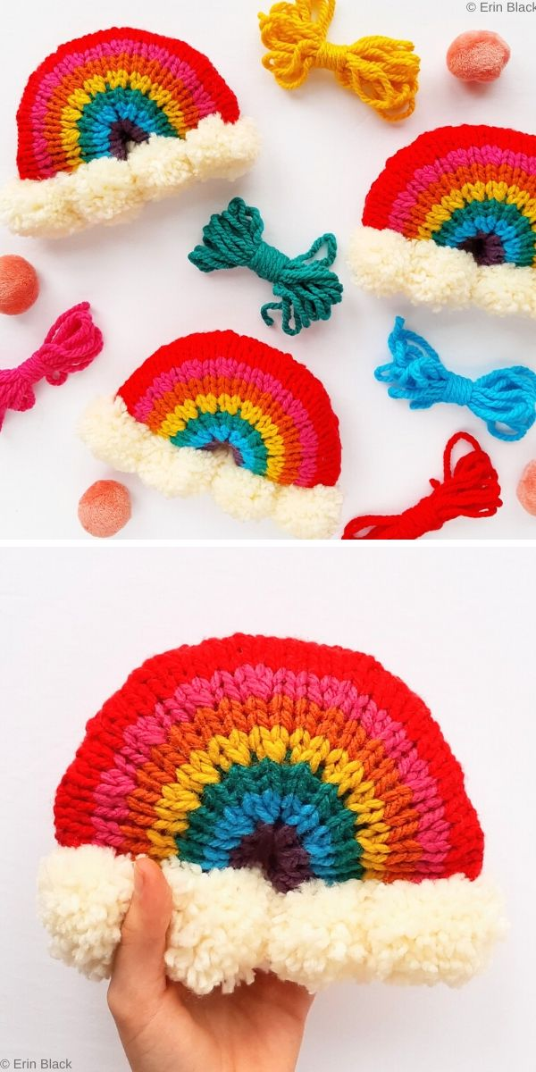 Brighten Your Day Knit Rainbow Stuffie Free Knitting Pattern