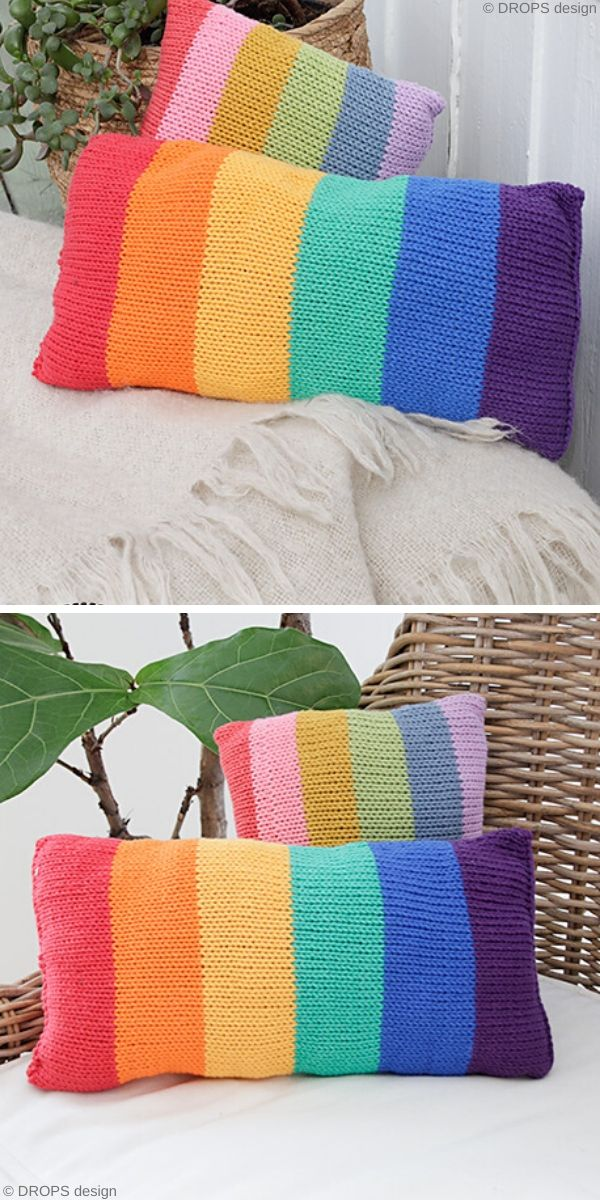 Cosy Rainbows Free Knitting Pattern