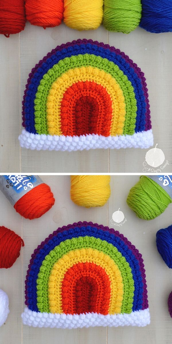 Crafty Rainbow Pillow Free Crochet Pattern