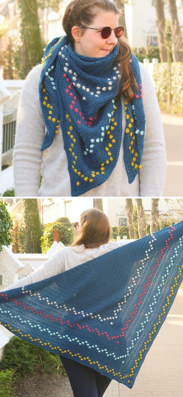 Fairy Lights Crochet Shawl