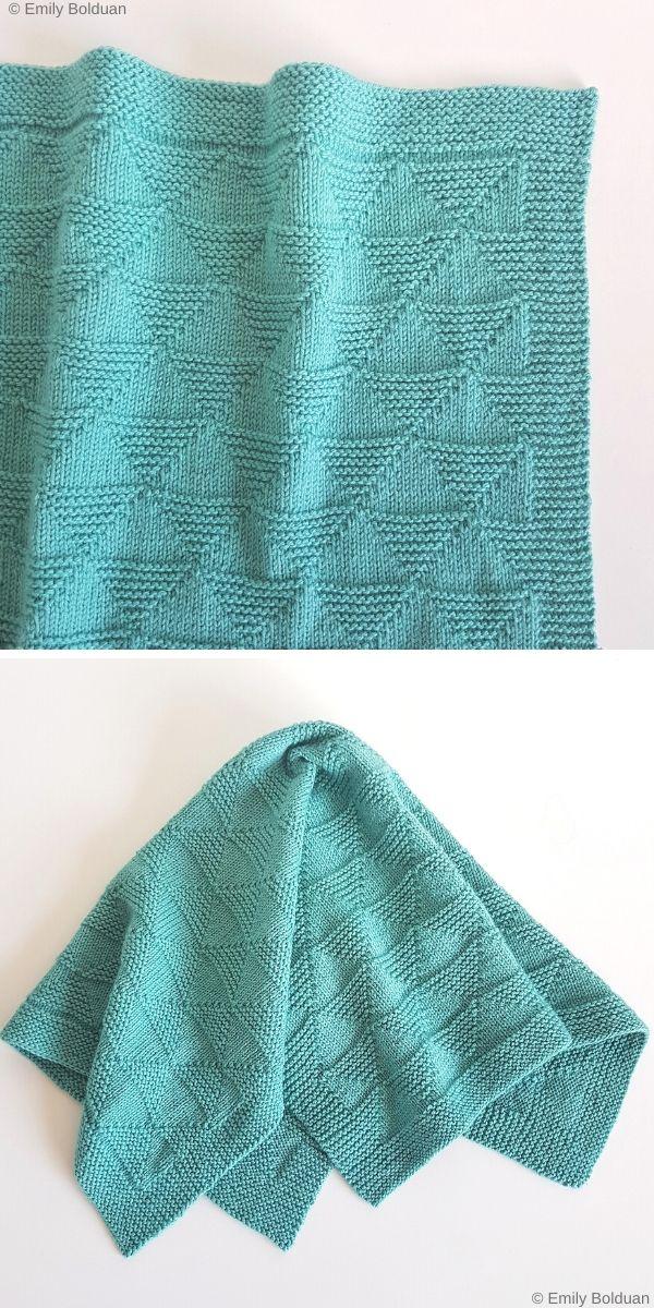Geo Blanket Free Knit Pattern