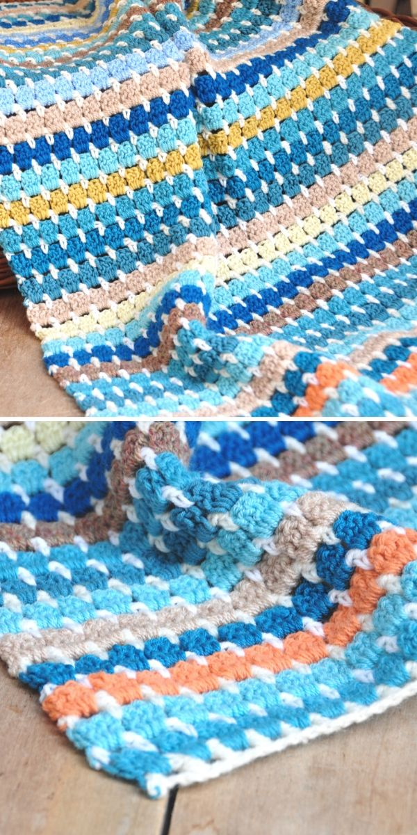 Granny Block Blanket - Yarn Stash Series Free Crochet Pattern