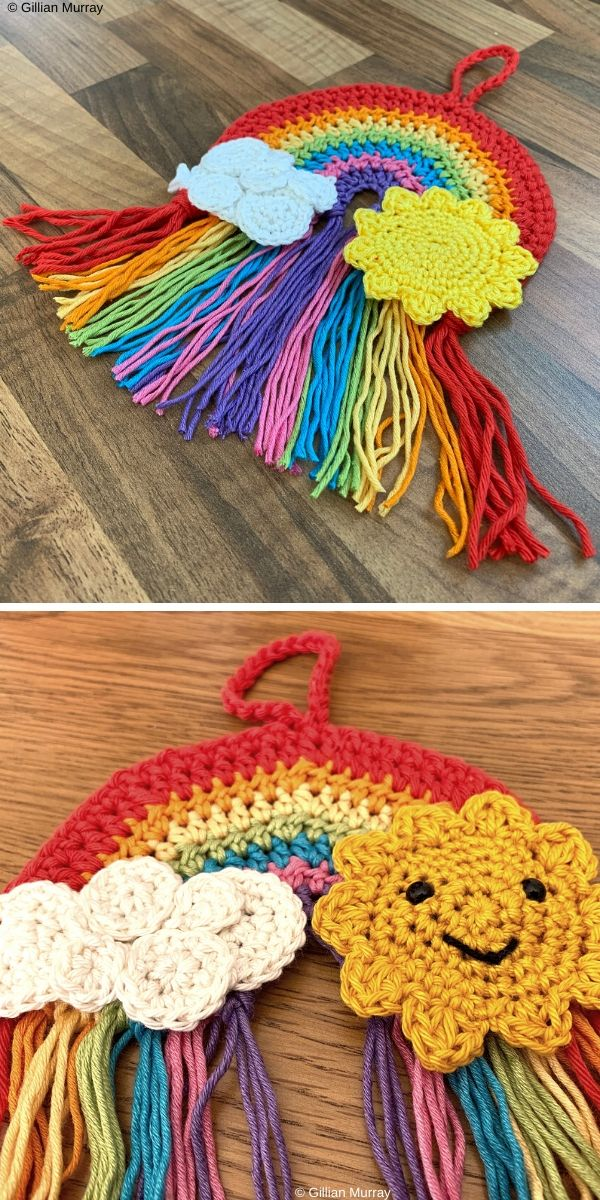 Hanging Rainbow Free Crochet Pattern