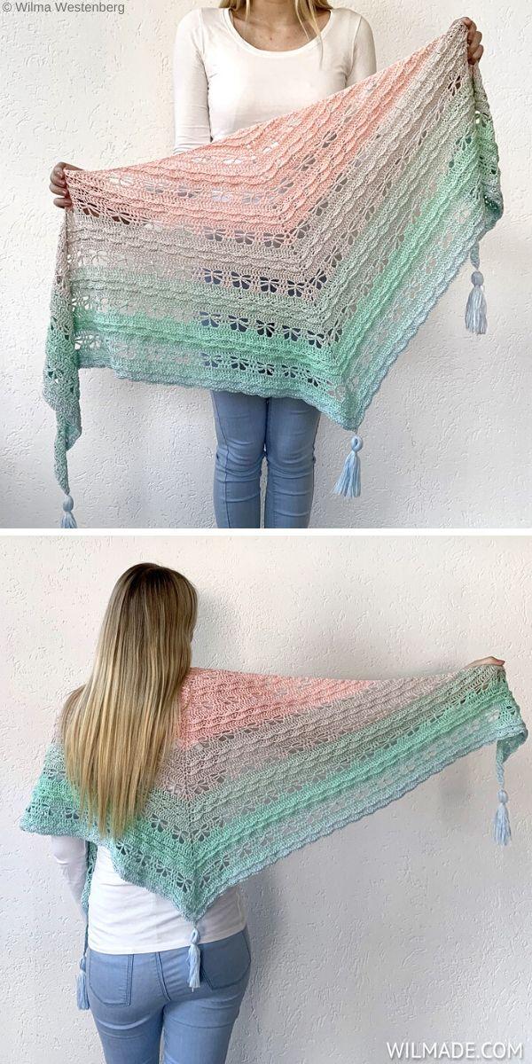 Jaycee Butterfly Shawl Free Crochet Patternn