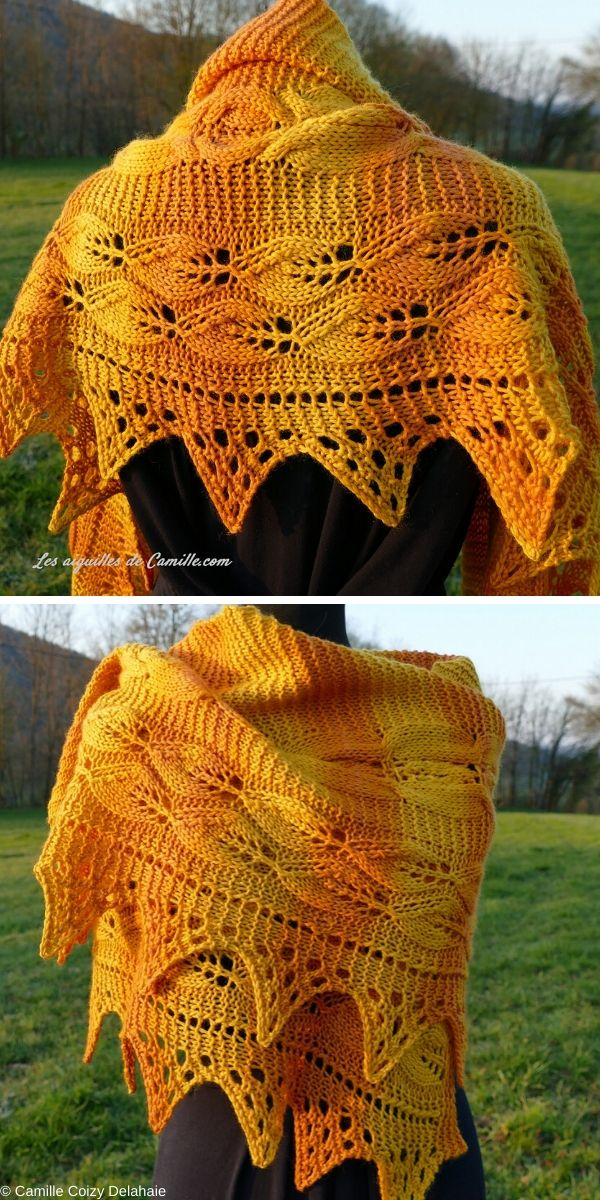 Let the Sunshine In! Shawl Free Crochet Pattern