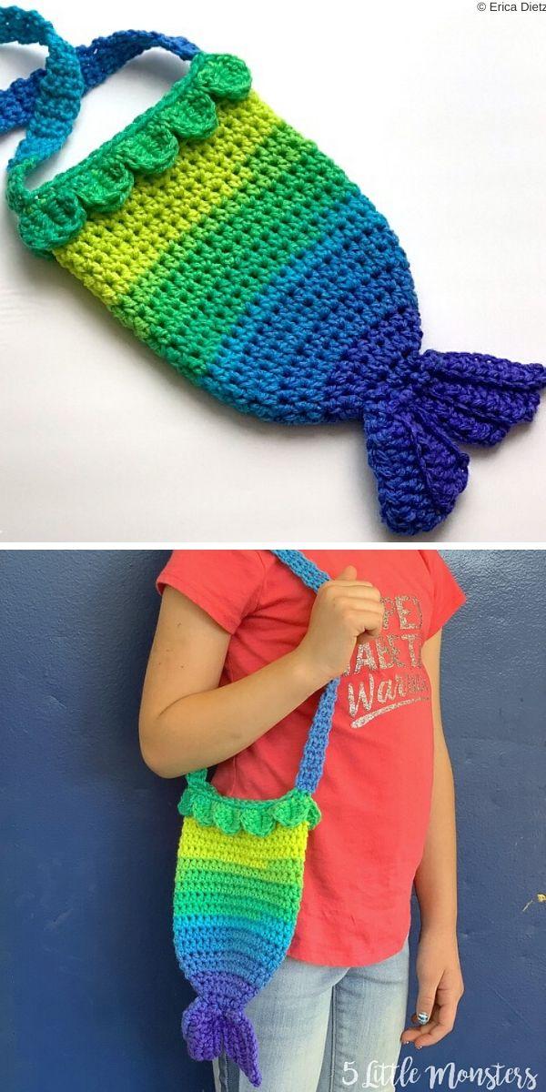Mermaid Tail PurseFree Crochet Pattern