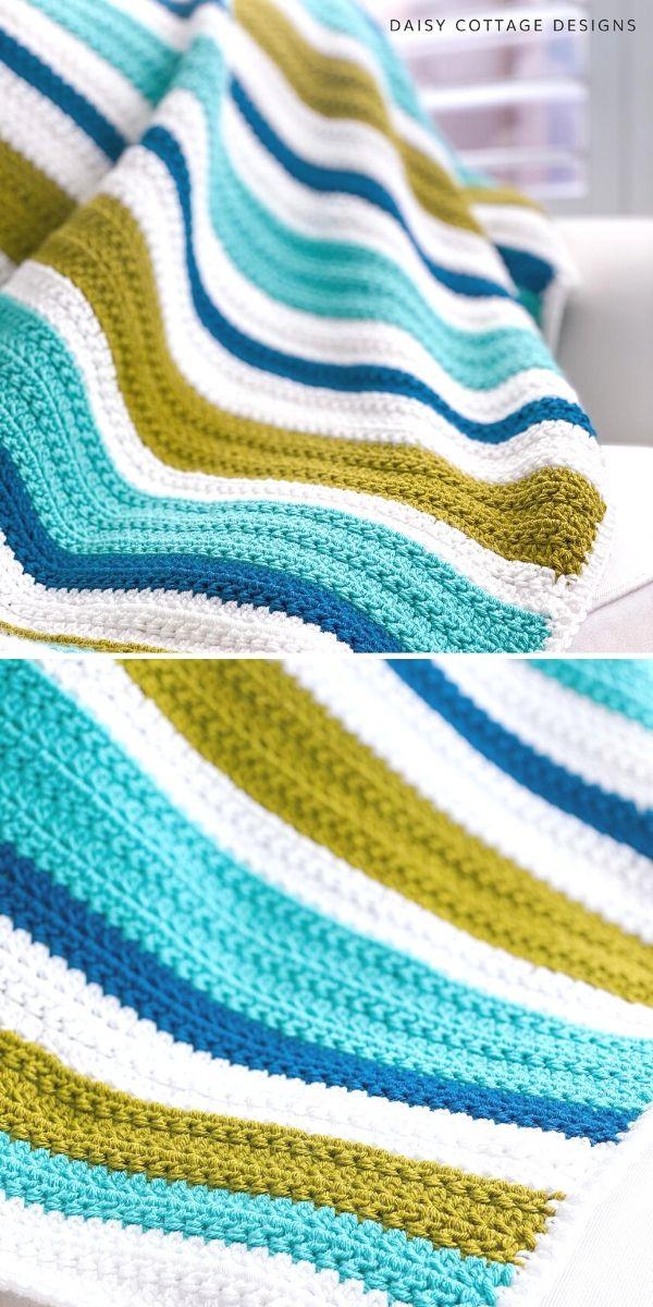 Oceanside Throw Free Crochet Pattern