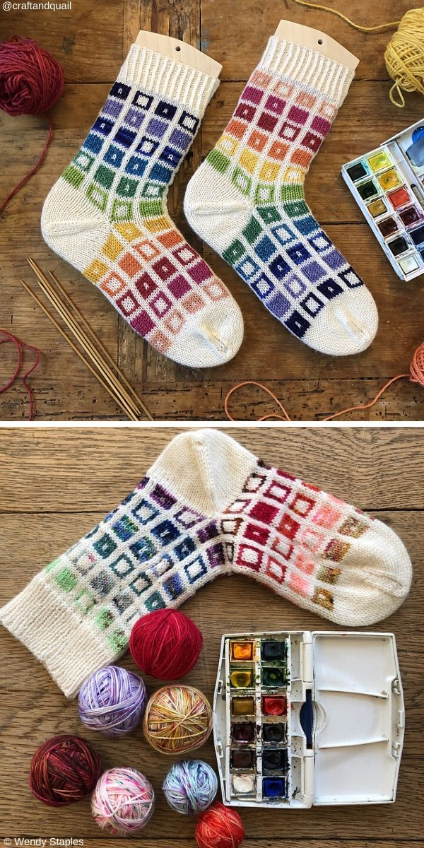 Paint Pan Socks Knit Pattern