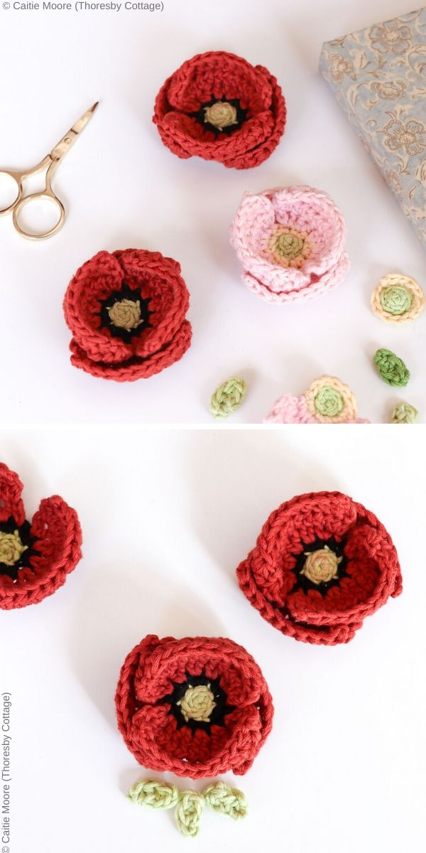 Remembrance Poppy Free Crochet Pattern
