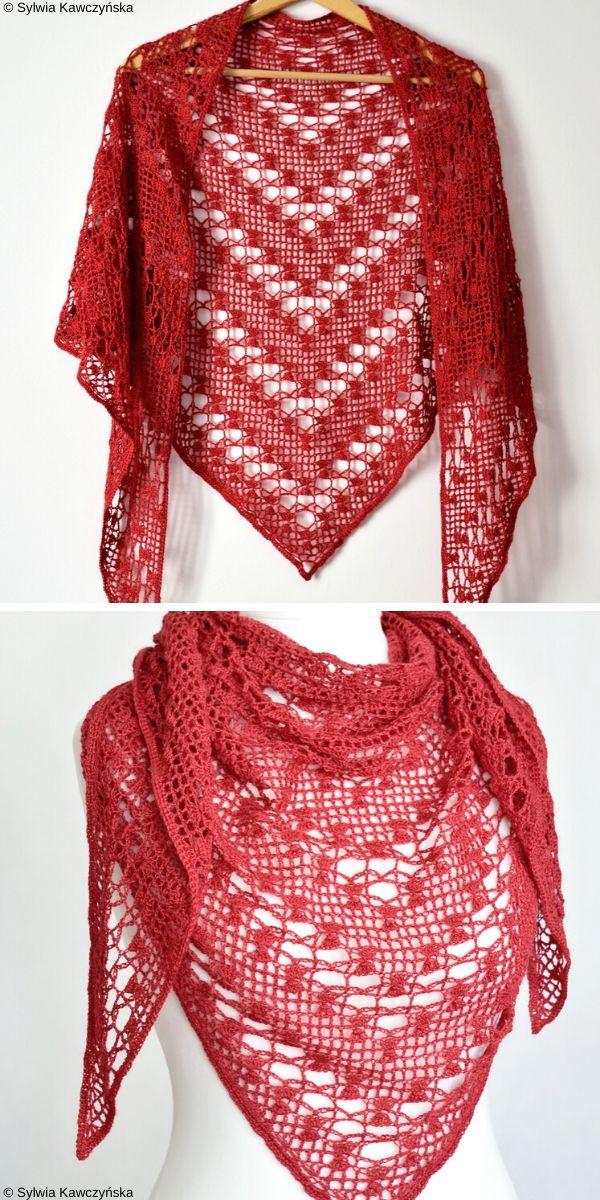 Sarin Lace Shawl Free Crochet Pattern