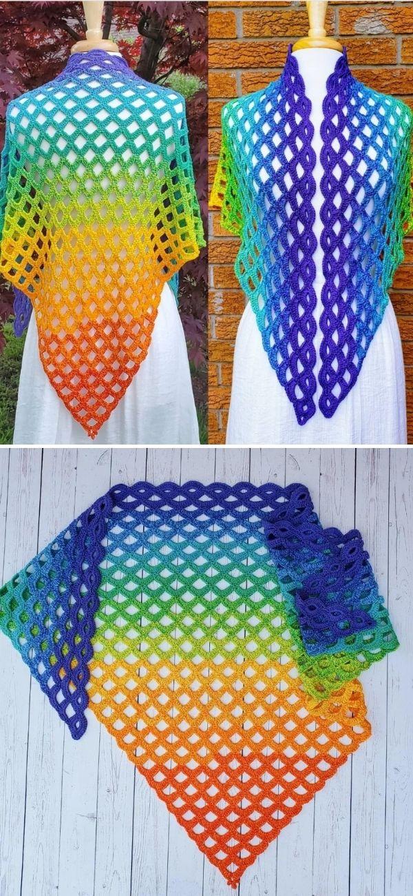 Scallop Falls Shawl Pattern