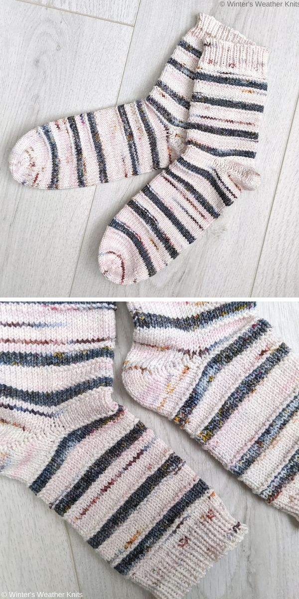 Self Isolation Socks Free Knit Pattern